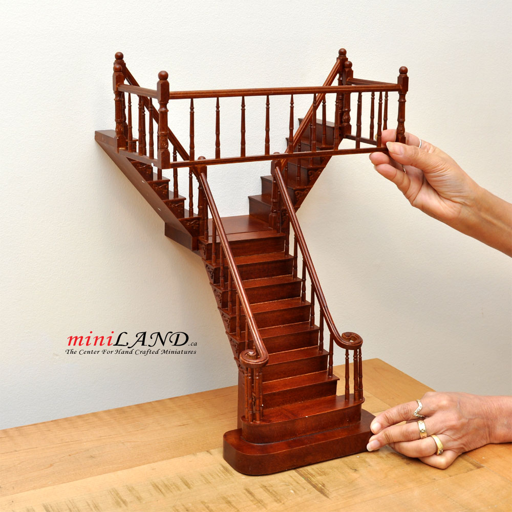 Miniature Staircase Stonetower : Quality y staircase scale miniature wooden dollhouse