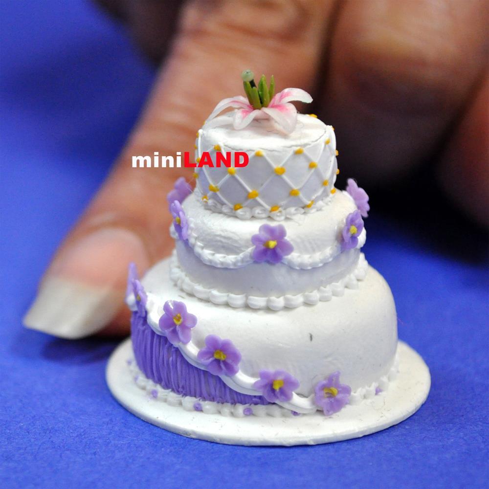 Doll House Cake Images : Wedding Cake for 1:12 Scale dollhouse miniature handmade ...