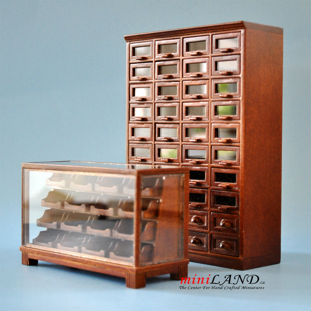 Store Haberdasher 40 Drawer Unit Art Deco Dollhouse
