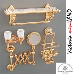 1.630/0 Deluxe Bathroom Accessory Set  Reutter Porzellan Dollhouse miniature 1:12