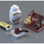 1.612/8 Pipe and Tobacco Set  Reutter Porzellan Dollhouse miniature 1:12