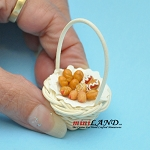 Basket with cakes Donuts Dollhouse miniatures 1:12 CC0001