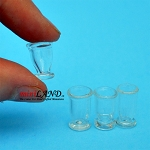 Set of 4 Glass clear for dollhouse miniatures 1