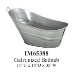 GALVANIZED BATHTUB metal dollhouse miniature 1:12