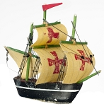 "SHIP Toy Boats Spanish Galleon 11/2"" miniature dollhouse 1:12 RA0308"