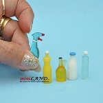 Cleaning supplies (5-pack) dollhouse miniature 1:12 scale
