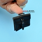 Black briefcase dollhouse miniature 1:12 scale