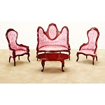 Economic 4 PCS LIVING ROOM AZ03218 5pcs 1:12 scale