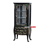 Fine Furniture black Chines handpaint Curio Cabinet 07704BCS