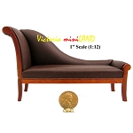 ART DECO LOUNGING SOFA Quality for Dollhouse miniature 1:12