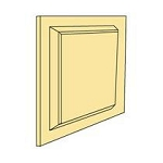 WAINSCOT PANEL one raiser panel 2-3/16