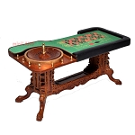 Roulette Casino Wheel play game Dollhouse miniature 1:12 bet gamble (Table only)
