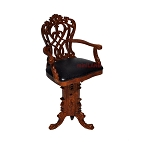 Casino Tall Chair play game room Dollhouse miniature 1:12 High bar stool wood
