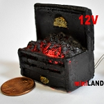 Fire Grate For The Fireplace Dollhouse 12v Glowing Embers light miniature 02