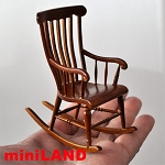 Victorian Rocking Chair Dollhouse miniature 1:12