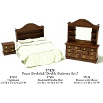 Economy Set 3 piece Bedroom Suite  1:12 scale dollhouses miniature