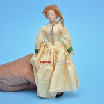 Victorian Lady in Ivory Gown Porcelain doll  5.5