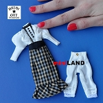 xz971 Ladies Skirt & Top, Dolls House Miniature