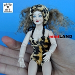 x062 Heidi Ott Dolls House Doll, Lady in Leopard Skin Swimsuit