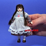XC003 Heidi Ott Dolls House Doll, Young Girl with Plaits