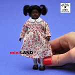 XC016 Heidi Ott Dolls House Doll, Young Brown Girl in Pink