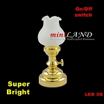 Large brass Tulip  Table Lamp LED Super bright with On/off switch