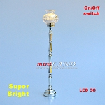 Silver Floor Lamp LED Super bright with On/off switch