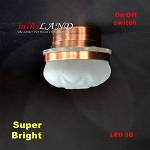 Ceiling lamp  frosted shade LED Super bright with On/off switch  Copper