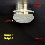 Ceiling lamp  frosted shade LED Super bright with On/off switch  Silver