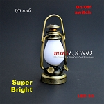 1/6 scale Nostalgia oil lamp  LED Super bright with On/off switch