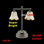 Black Modern table Lamp  LED Super bright with On/off switch