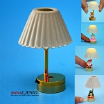 DIY table LED LAMP light battery 1:12 Glue your figure on the base