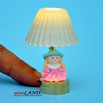 Child table LED LAMP light battery Handmade 1:12 Kid baby Girl