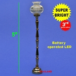 Black Floor Lamp LED Super bright with On/off switch