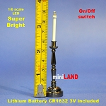 1/6 scale black Candlesticks lamp LED Super bright with On/off switch