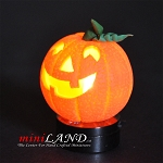 Halloween Pumpkin bright battery LED LAMP 1:12 on/off switch hop05