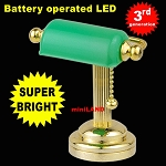 Desk light w/green shade  LED Super bright with On/off switch