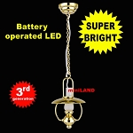 Hanging brass oil lamp LED Super bright with On/off switch