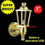 Brass Carriage Lamp Sconce Super bright with On/off switch
