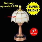 White copper Tiffany lamp LED Super bright with On/off switch