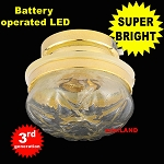 Ceiling lamp  clear shade LED Super bright with On/off switch