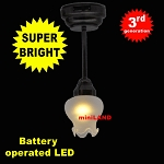 Black Sm Frost Tulip Ceiling Lamp LED Super bright with On/off switch