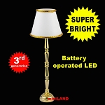 Brass floor lamp  LED Super bright with On/off switch