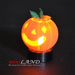 Halloween Pumpkin bright battery LED LAMP 1:12 on/off switch hop12
