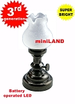 Large blackTulip Table Lamp LED Super bright with On/off switch