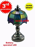 Colored black Tiffany lamp LED Super bright with On/off switch