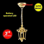 Brass Lantern hanging lamp LED Super bright with On/off switch