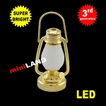 1/6 scale brass oil lamp  LED Super bright with On/off switch
