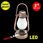 1/6 scale copper oil lamp  LED Super bright with On/off switch