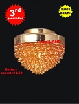 Gold ceiling lamp LED Super bright with On/off switch